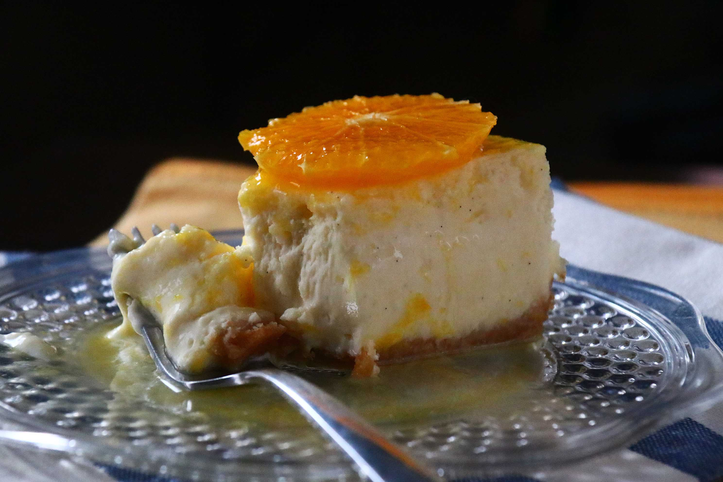 vanilla cheesecake with orange glaze – d e s s e r t i o n